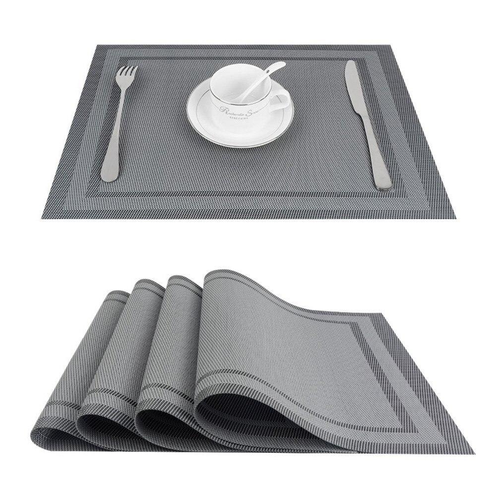 Two Tone Placemat 4-10 Pcs Set